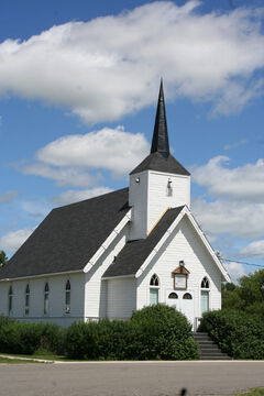 The United Church in Pipestone was built in 1883. The RM of Pipestone says $500 grant to be received by every resident could be used to support halls, churches, cemeteries, clubs, recreation facilities, daycare, and the community foundation or to contribute to infrastructure upgrades such as the water pipeline or paving.