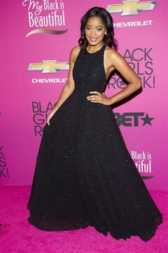 "FILE - This Oct. 26, 2013 file photo shows actress Keke Palmer at the BET Network's Black Girls Rock! in Newark, N.J. Palmer will be stepping into the title role in ""Rodgers & Hammerstein's Cinderella"