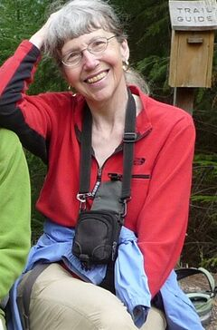 This undated photo provided by Lola Kemp shows Karen Sykes. Crews searched Mount Rainier National Park on Friday, June 20, 2014, for Sykes, an outdoors writer, was reported missing late Wednesday while she researched a story. (AP Photo/Lola Kemp)
