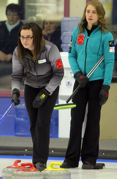 Dori Vince (left) and Kaitlyn Payette will curl for Westman.