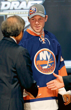 Edmonton's Griffin Reinhart was the New York Isanders' first-rounder in 2012 NHL draft.