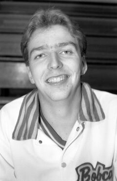 Doug Carmichael — seen here back in the late 1980s — was a member of the Bobcats' three straight national championship teams from 1987-89.
