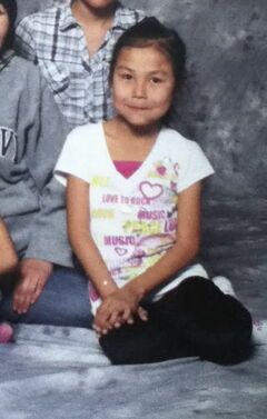 Facebook photo Raquelle Tssessaze, 10, a resident of Lac Brochet, died Tuesday, April 15, 2014, around 6 p.m. when she was attacked by two dogs on a trail through the bush in the remote northern community. She was on her way from taekwondo. This photo was when she was 8 years old.