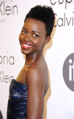 Lupita Nyong'o attends the IFP and Calvin Klein Women In Film Party at the 67th international film festival, Cannes, southern France, Thursday, May 15, 2014. (Photo by Arthur Mola/Invision/AP)