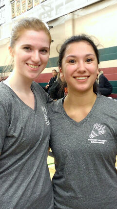Over their four years of playing doubles badminton, Vincent Massey students Olivia Pieroni (left) and Katherine Lee just got better and better. In this, their Grade 12 year, they were the best, winning the gold medal at the provincials in Winnipeg.