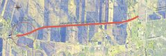The proposed route of the Headingley bypass.