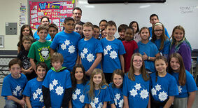 Mrs. Sambrook's Grade 6 class from Linden Lanes School won the Grades 4 to 6 category in the City of Brandon's annual Waste Reduction School Challenge, garnering 1,605 waste-reduction points.