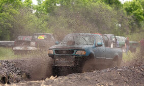 Drivers raced their way through the mud pit  at the fair grounds in Boissevain during the weekend of June 20-21.