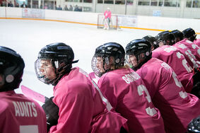 "Minnedosa Chancellors hosted their first ever ""Pink the Rink"" game earlier this winter to raise money and awareness in the battle against cancer. The team was dressed in pink jerseys, pink socks and had placed pink tape on their sticks."
