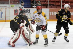 Brandon Wheat Kings prospect Ben McCartney, seen as a member of Team White during the intrasquad game in September, has been recalled by the team for the playoffs.