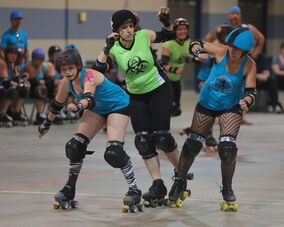 Dawn Dolloff (a.k.a. Jessica Albad) won't be suiting up for Gang Green this season as the Wheat City Roller Derby League's primary travelling team is on a year's hiatus.