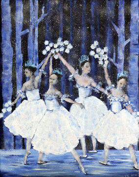 """Waltzing of the Snowflakes,"" a painting by Maria Egilsson, graced The Brandon Sun's front page on Christmas Eve. The festive piece captures a scene from the iconic ballet, ""The Nutcracker."" The Sun's annual Canvas for a Cause charity auction closed Monday at 5 p.m. with a winning bid of $400."
