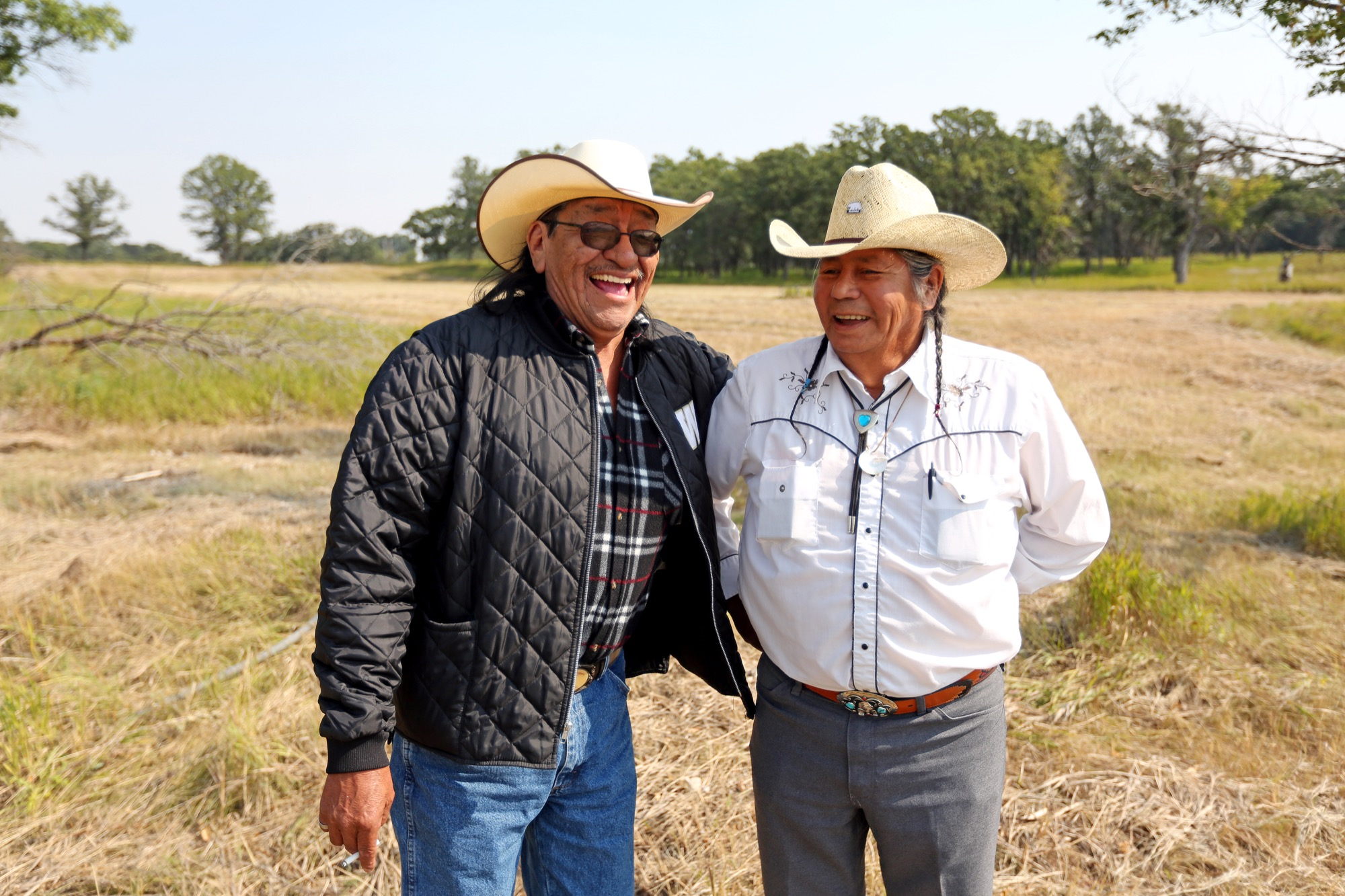Robert Mentuck and Norbert Tanner of Waywayseecappo First Nation attended the Residential School Survivors Gathering at the site of the former Brandon Indian Residential School just west of the city.