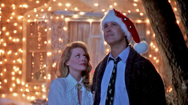 """Beverly D'Angelo and Chevy Chase are shown in a scene from the 1989 epic """"National Lampoon's Christmas Vacation."""""""