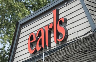 A Earls restaurant is pictured in North Vancouver, Thursday, April 28, 2016. THE CANADIAN PRESS/Jonathan Hayward