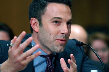 Actor Ben Affleck testifies on Capitol Hill in Washington, Thursday, March 26, 2015. Revelations that Ben Affleck requested his ancestral ties to a slave owner be omitted from a show on his family history have loomed large in the headlines. THE CANADIAN PRESS/AP-Lauren Victoria Burke