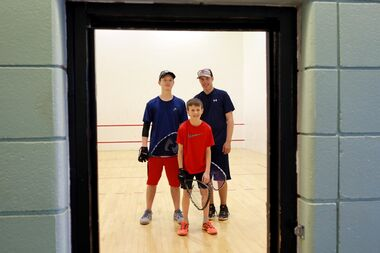 Nick Edmunds, Leyton Gouldie and Brendan Kowalchuk of Brandon will compete at the national junior racquetball championships this week in Leamington, Ont.