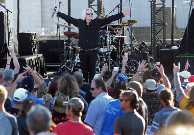 Econoline Crush performed on the main stage on the final night of the 2015 Rockin' The Fields festival in Minnedosa. This year's festival takes place July 29 to 31.