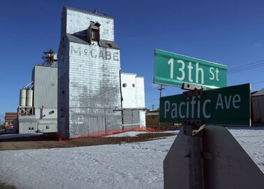 The wooden grain elevator at 13th Street and Pacific Avenue is expected to be torn down by the end of May.