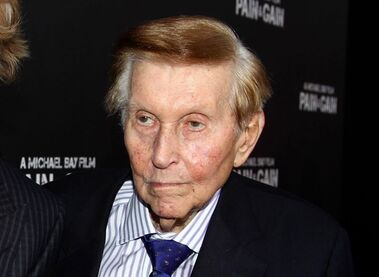 FILE - In this April 22, 2013 file photo, Sumner Redstone arrives at the LA Premiere of