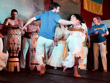 Capoeira dancers, including members of Brandon's Uma Filosofia De Vida Capoeira, perform at the Brazilian pavilion during last year's Lieutenant Governor's Winter Festival. With this year's festival less than a week away, several pavilions still need volunteers, including the Brazilian pavilion.