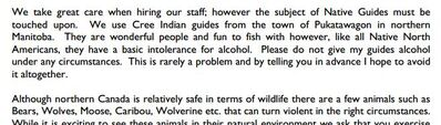 An excerpt from the Laurie River Lodge's guide for fly-in fishers.