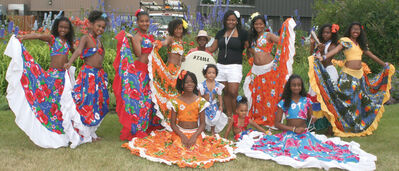 Young members of the Island Vibe Dance Group.