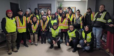 Tammy Hossack and Laura Moar of Brandon were among the volunteers of Winnipeg's Bear Clan Patrol on Nov. 16. They received a first-hand look at how the patrol group operates in advance of plans to bring the Bear Clan to the Wheat City.
