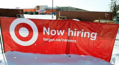 The former Zellers store in Shoppers Mall is being converted into a Target store. Company representatives are holding a job fair at a local hotel until Thursday.