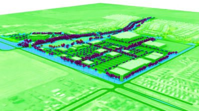 """This is a birds-eye view of the proposed development at the southwest corner of Highway 10 and Patricia Avenue. Colliers International is advertising the """"South Brandon Village"""" on its website, which would be up to 50 acres of commercial development."""