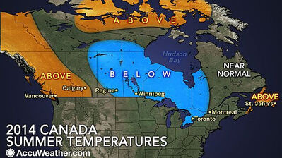 Temperature-wise, the summer prediction calls for below-normal temperatures this year.