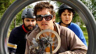 """Chris Mitchell, Steve Langston and Ryan Mitchell recently sold their film """"Riding North"""" to the radX TV channel. The film followed Langston on a 30-day bike tour through the Yukon and North West Territories."""