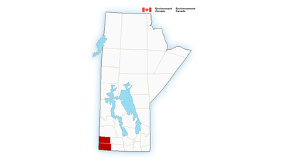 Environment Canada issued heat warnings for much of Westman on Aug. 14, 2014.