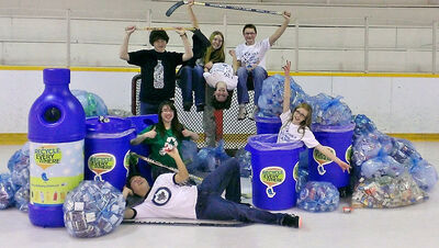 "Students of the Environmental Club at Strathclair Community School were selected as the first-place winner of the ""Recycle Everywhere - Winnipeg Jets Classroom Recycling Challenge."""