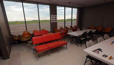 The airport will have seating for approximately 65 passengers.