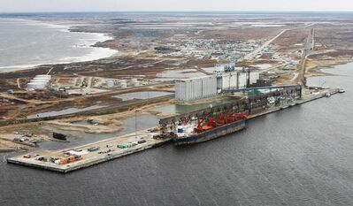 Aerial view of the port of Churchill, Manitoba Friday, Oct. 5, 2007. The owners of a port and broken rail line in northern Manitoba are filing a complaint against the federal government under the North American Free Trade Agreement. THE CANADIAN PRESS/John Woods