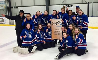 The under-14 Brandon Blizzard won a Manitoba Ringette provincial U14B championship in March in what's been a year of growth and excitement for the Brandon Ringette Association.