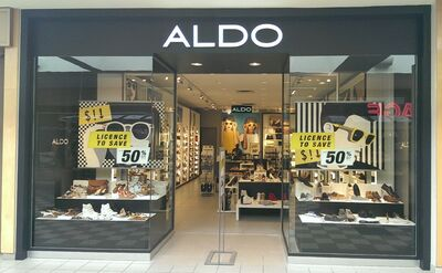 Aldo's renovated store in the Shoppers Mall opened yesterday.