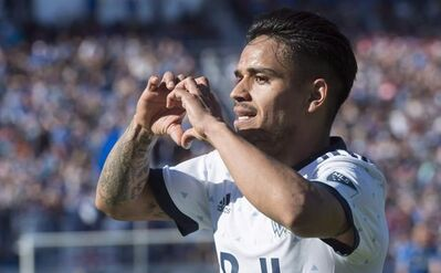 Vancouver Whitecaps midfielder Cristian Techera celebrates his goal against the Montreal Impact during second half MLS action in Montreal on April 29, 2017. The Vancouver Whitecaps can probably be forgiven if they have to look up directions to B.C. Place Stadium. It will have been 36 days since the Whitecaps (4-5-1) last played in front of their fans when the team hosts Sporting Kansas City (6-2-4) on Saturday. The Whitecaps crisscrossed the continent and finished the four-game trip with a decent 2-2 record. THE CANADIAN PRESS/Paul Chiasson