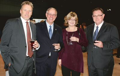 Coun. Riverview Ward. Len Isleifson, Coun. University Ward. Jeff Harwood, Laurel Clark and Charlie Clark.