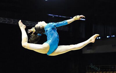 Brandon's Isabela Onyshko competed at the L'International Gymnix event in Montreal earlier this month.