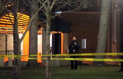 Police tape blocks off an area of Princess Park as the Brandon Police Service investigate following an assault on Tuesday evening. No arrest has been made in the case.