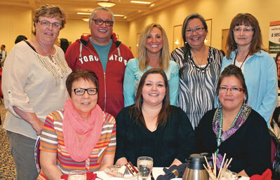 Back: Gail Cullen, Frank Tacan, Anna-Kay Gordon, Roberta MacKinnon and Anita Neault.   Front: Barb Desjardins, Tammy Hossack and Denise Henry.
