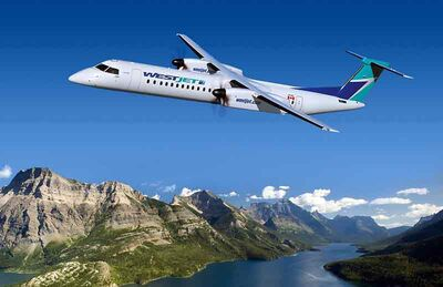WestJet's new regional air service Encore will use Bombardier Q400 NextGen aircraft, shown here in an illustration. WestJet is expected to name the cities that will be served by the new regional air service in an announcement Jan. 21.