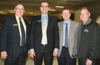 Harry Bowler, Mike Brolund, Tim Klassen and Dave Kaminksy from Sunrise Credit Union.