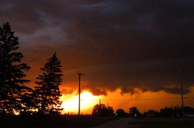 Storm clouds Saturday evening near Hartney. Environment Canada says that a tornado touched down just before 10 p.m.