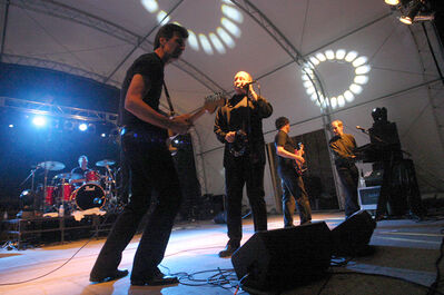 Kenny Shields and Streetheart play onstage at Rockin' the Fields of Minnedosa in 2007. Streetheart's successes include a Juno Award, two Ampex Golden Reel awards, a Chimo Award from Music Express Magazine, and they were voted the most popular Canadian act in the Peoples' Choice Awards. In 2003, Streetheart was inducted into the Western Canadian Music Hall of Fame. Record sales have earned the band  six gold and four platinum albums in Canada.