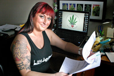 Jade Ridge is a medical cannabis patient as well as a recreational cannabis activist. She's also the regional rep for NORML, the National Organization Reform Marijuana Laws and the Women's Alliance for Manitoba. For the past two years, she's been legally using cannabis for medical purposes to alleviate the daily pain she endures from a fractured femur she suffered seven years ago. She and her boyfriend, who is a local doctor, run the Canadian Medical Marijuana Clinic, a non-profit organization that assists those who are seeking to be deemed medically eligible to use marijuana.