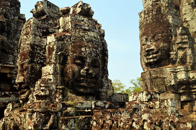 The Lokesvara faces of Bayon. They project out from all of the towers in the temple, smiling down on the tourists. It almost makes you feel welcome.