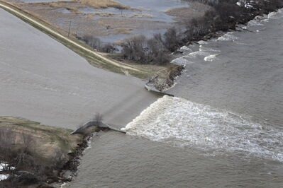 The Portage Diversion has been used 32  out of the 44 years it has been in service.